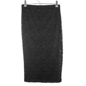 BEBE Lace Pencil Skirt